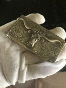 1-1/2andrdquo X 3andrdquo All Sterling Andldquobig Wadandrdquo Money Clip With Longhorn Steer And Ruby Eyes