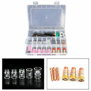 31pcs For Wp-17/18/26 Tig Welding Torch Stubby Gas Lens 12 Pyrex Glass Cup Kit
