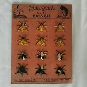Vintage 1940s Water Witch Baits Rare Fishing Lures Display Rubber Bass Bee 3