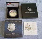 2021 National Law Enforcement Memorial And Museum Proof Silver Dollar