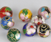 10/50pcs 6-14mm Round Cloisonne Glossy Colored Beads Jewelry Making Gift
