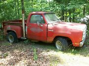 1979 Dodge Liland039 Red Express Truck Bb At W/paperwork Salvage Parts Car