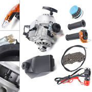 49cc 2-stroke Engine Motor Kit For Air Cooled Mini Dirt Bike Off-road Motorcycle