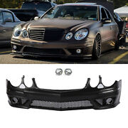 Front Bumper Body Kit W/ Fog Lamp W/o Pdc Amg Style For 07-09 Benz W211 E-class