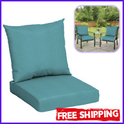 Deep Seat Chair Patio Cushions Set Pad Uv Resistant Porch Outdoor 45 X 22.7 In