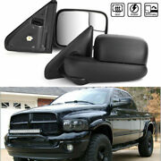 Right And Left Side Towing Mirrors Heated Fits For 02-2008 Ram 1500-3500 Pickup