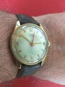 Vintage Menand039s Don Manual Watch. Gold Plated 17 Jewels Antimagnetic.patina Dial