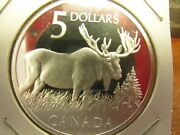 2004 Canada 5 Dollar Majestic Moose Silver Proof Coin