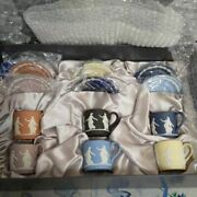 Wedgwood Jasperware Dancing Hours Set Of 6 Cup And Saucer With Box Unused England