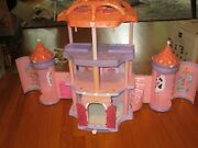 Vintage My Little Pony Crystal Rainbow Castle Pink Sparkle With 2 Ponies Expands