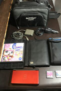 Nintendo Ds Lit Bundle. 3 Games, 2 Chargers, 2 Cases, 2 Gameholders
