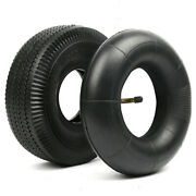 4.10/3.50-4 Pneumatic Tires With 10 Inner Tubes For Lawn Mowers, Hand Trucks