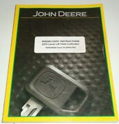 John Deere 2210 Level-lift Field Cultivator Predelivery Instructions Manual Jd