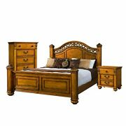 Picket House Furnishings Barrow King Poster 3-pc. Bedroom Brown King