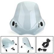 Windshield Windscreen For Motorcycle With 7/8 1 1-1/8 Handlebar Gray