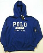 Polo Menand039s Royal Blue Polo 1967 Athl. Dept. Fleece Lined Hoodie