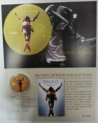 24k Gold Foil Michael Jackson This Is It Tour Coin -only 1000 Minted -with Coa