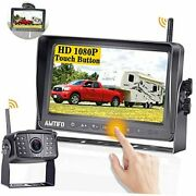 Wireless Backup Camera Hd 1080p Rv Camera With 7'' Dvr Monitor System For