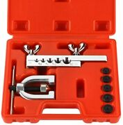 Auto Double Flaring Tool Kit Copper Aluminum Brake Line And Brass Tubing Tools