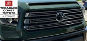 New Oem Toyota Tundra 18-21 Trail Edition Chrome And 6v7 Grille And Bulge And Emblem