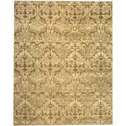 Martha Stewart By Safavieh Hand-knotted Damask Wool Rug Pedestal 4and039 X 6and039