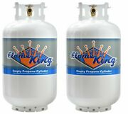 Brand New Twin Pack 30 Lb. Propane Cylinder Refillable Steel Tank With Opd Valve