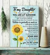 Sunflower Dad To Daughter You Are The World To Me Portrait Canvas