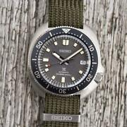 Seiko Prospex Diverand039s Spb237j1 With Vintage Style Fabric Strap Menand039s Watch