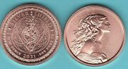 2021 Justice 1 Oz. Copper Round Coin From Silver Shield