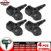 4pcs Tpms Tire Pressure Monitor Sensor For Lexus Is200t Is250 Is300 Is350 Es300h
