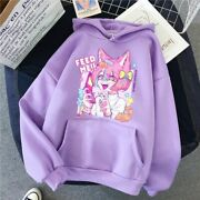 Anime Feed Me Funny Women Hoodie Sweatshirts Females Winter Clothes Girls Autumn