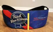 Pabst Blue Ribbon Very Colorful Large Sponge Beer Cooler Cover Tough To Find