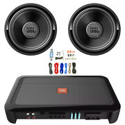 Jbl Club A1000 1000w Subwoofer Amplifier With 2x 12andrdquo Subwoofers And Wiring Kit