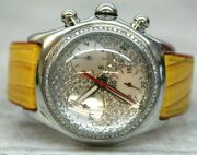 Mens Jpm Inc. Extasy 2 Ct Diamond Face 44mm Stainless Steel Bubble Dome Watch