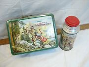 Nice Holtemp Davy Crocket Metal Lunchbox Lunch Box American Thermos Co No Lid