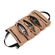 Super Tool Roll, Large Wrench Roll, Big Tool Roll Up Bag, Waxed Canvas Khaki
