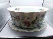 Andrea By Sadek Plate And Bowl Soup Japanese Dinner Large Flowers
