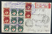 1938 Moukden Manchukuo China Registered Airmail Cover To Monterey Ca Usa