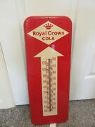 Vintage Advertsing Royal Crown Cola Store Fountain Tin Thermometer A-663