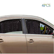 4pcs Car Windows Covers Privacy Curtains Side Magnet Black Sunshades Babyand039s