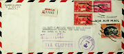 Us Philippines 1937 Regd Via China Clipper Cover To Ny Cinema Motion Pictures
