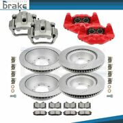 Fits 2008-2017 Toyota Sequoiafront And Rear Brake Calipers And Rotor And Ceramic Pad