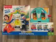 Little People Launch And Loop Raceway Light-up Vehicle Playset New