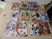 110 Nfl 1991 Pro Sets Football Cards - Varied Teams And Players.
