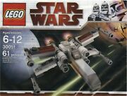 Lego Star Wars 30051 X-wing 30053 Republic Attack Cruiser. Complete With Manual