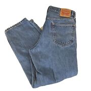 Leviand039s 560 Loose Fit Tapered Comfort Jeans Menand039s 34x30 Light Wash Blue Jeans
