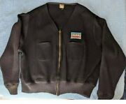 Rare Vintage 1950and039s Original Hammand039s Beer Wool Delivery Unitog Sweater Jacket Xxl