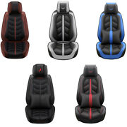 Luxury Pu Leather Car Seat Covers For 5-seats Racing Style Interior Accessories