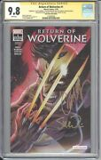 Return Of Wolverine 1 Glow In The Dark Cgc 9.8 Signed Campbell, Soule, Mcniven