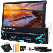 7 Single 1din Car Radio Player Flip Up Stereo Bluetooth Touch Screen Dvd Cd Ccd